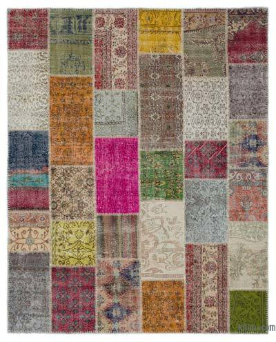 Turkish Patchwork Rug - 8'2'' x 10'1'' (98 in. x 121 in.)