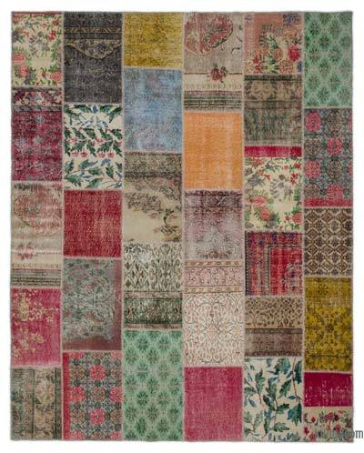 "Turkish Patchwork Rug - 7'10"" x 9'11"" (94 in. x 119 in.)"