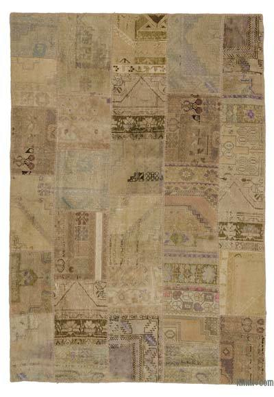 Turkish Patchwork Rug - 6'1'' x 9' (73 in. x 108 in.)