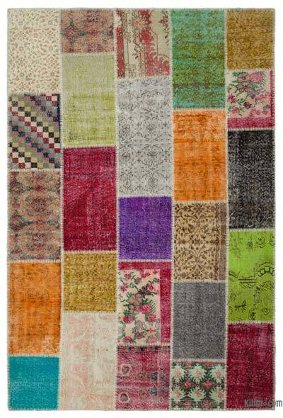 Turkish Patchwork Rug - 6'8'' x 9'11'' (80 in. x 119 in.)