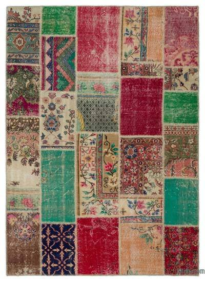 Turkish Patchwork Rug - 5'5'' x 7'6'' (65 in. x 90 in.)