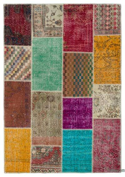 Turkish Patchwork Rug - 5'3'' x 7'7'' (63 in. x 91 in.)