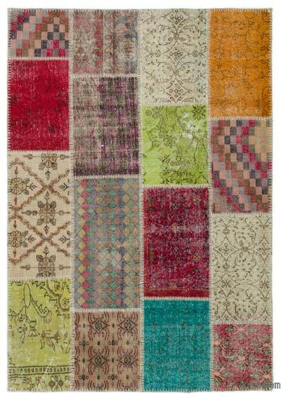 "Turkish Patchwork Rug - 5'3"" x 7'6"" (63 in. x 90 in.)"