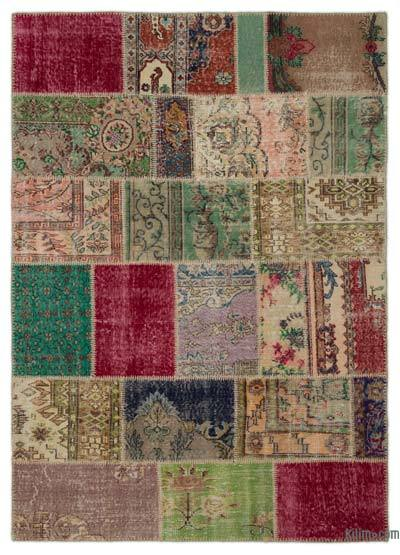 Turkish Patchwork Rug - 5'4'' x 7'6'' (64 in. x 90 in.)