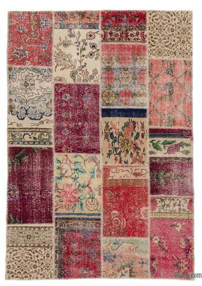 Turkish Patchwork Rug - 5'3'' x 7'8'' (63 in. x 92 in.)