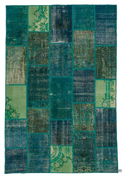 Over-dyed Turkish Patchwork Rug - 6'6'' x 9'10'' (78 in. x 118 in.)