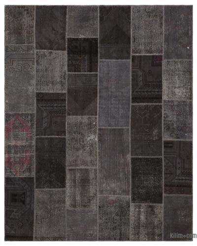 "Over-dyed Turkish Patchwork Rug - 7'10"" x 9'9"" (94 in. x 117 in.)"