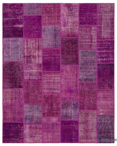 Over-dyed Turkish Patchwork Rug - 8' x 10' (96 in. x 120 in.)