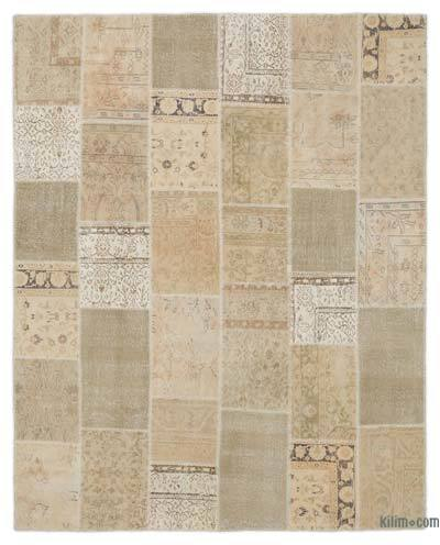 Over-dyed Turkish Patchwork Rug - 7'10'' x 9'10'' (94 in. x 118 in.)
