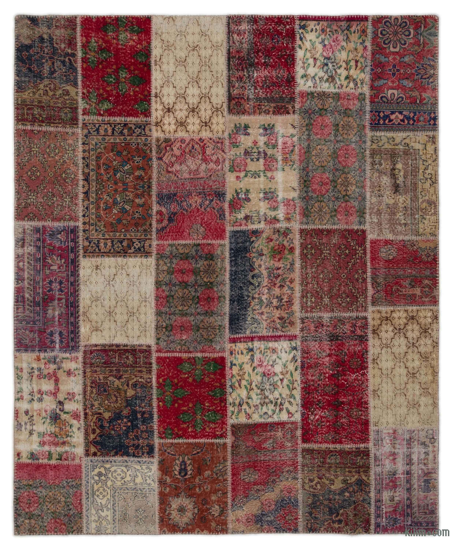 k0021622 turkish patchwork rug | kilim rugs, overdyed vintage rugs