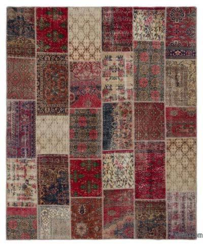 "Turkish Patchwork Rug - 7'11"" x 9'9"" (95 in. x 117 in.)"