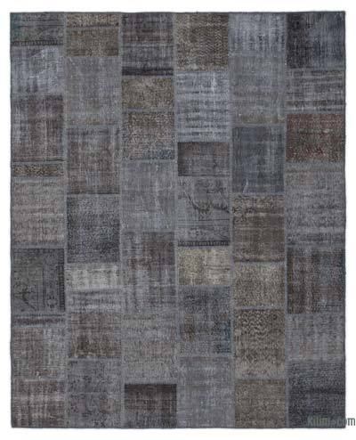 "Over-dyed Turkish Patchwork Rug - 8'2"" x 10'1"" (98 in. x 121 in.)"