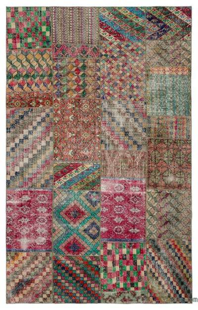 "Turkish Patchwork Rug - 6'2"" x 9'9"" (74 in. x 117 in.)"
