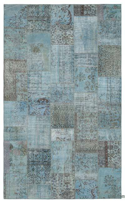 Over-dyed Turkish Patchwork Rug - 6' x 9'10'' (72 in. x 118 in.)