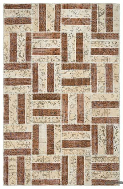 Over-dyed Turkish Patchwork Rug - 5'3'' x 8'2'' (63 in. x 98 in.)