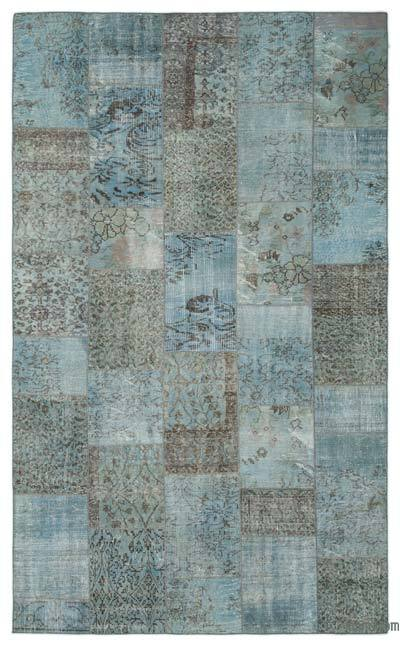 "Over-dyed Turkish Patchwork Rug - 5'11"" x 9'10"" (71 in. x 118 in.)"