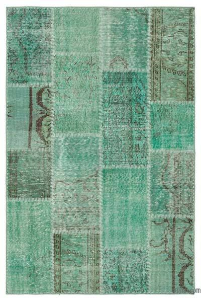 Over-dyed Turkish Patchwork Rug - 3'11'' x 6' (47 in. x 72 in.)