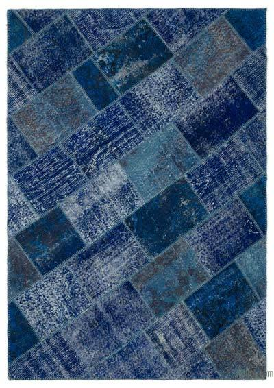 Over-dyed Turkish Patchwork Rug - 5'3'' x 7'6'' (63 in. x 90 in.)