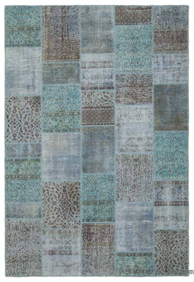 Over-dyed Turkish Patchwork Rug - 6'3'' x 9'3'' (75 in. x 111 in.)