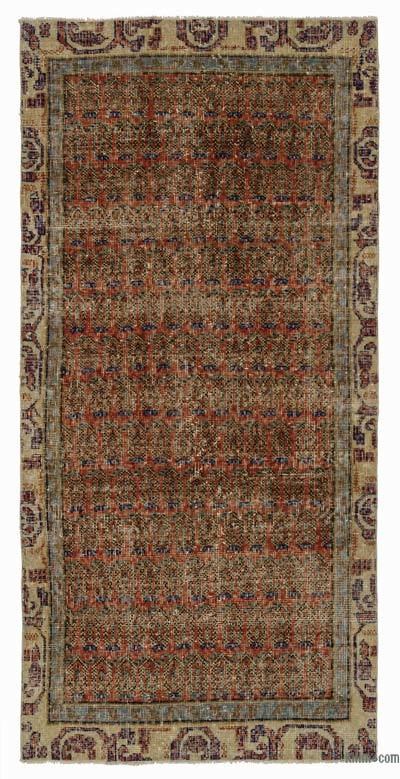 "Turkish Vintage Area Rug - 2'11"" x 6'1"" (35 in. x 73 in.)"