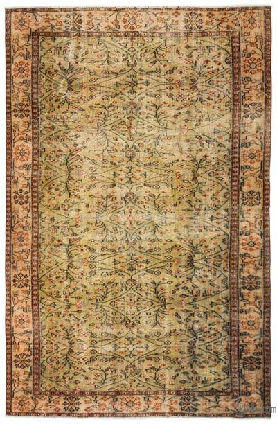 "Turkish Vintage Area Rug - 6'2"" x 9'2"" (74 in. x 110 in.)"