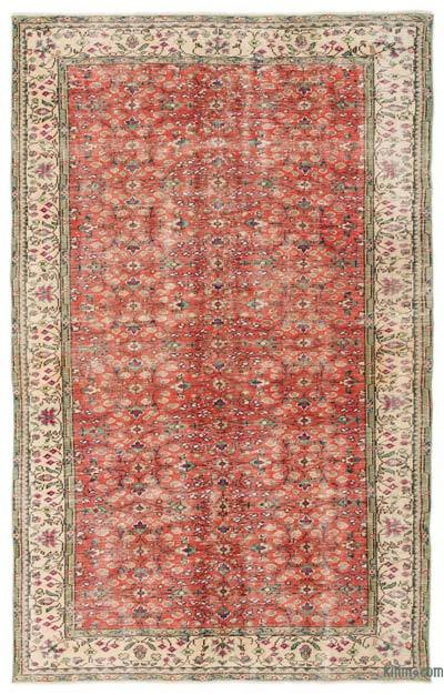 Turkish Vintage Rug - 5'10'' x 9'4'' (70 in. x 112 in.)