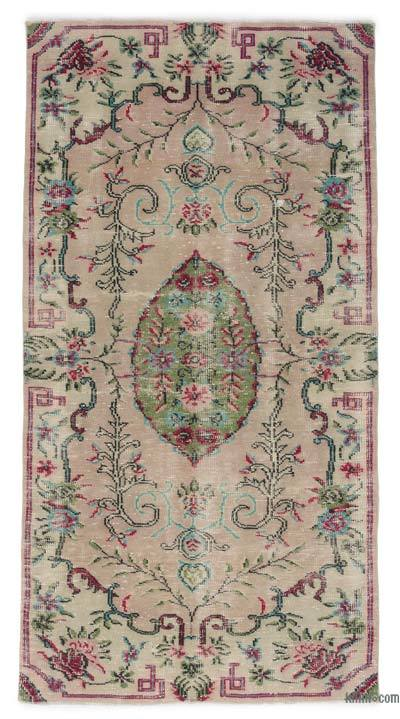 "Turkish Vintage Area Rug - 4'2"" x 8'1"" (50 in. x 97 in.)"