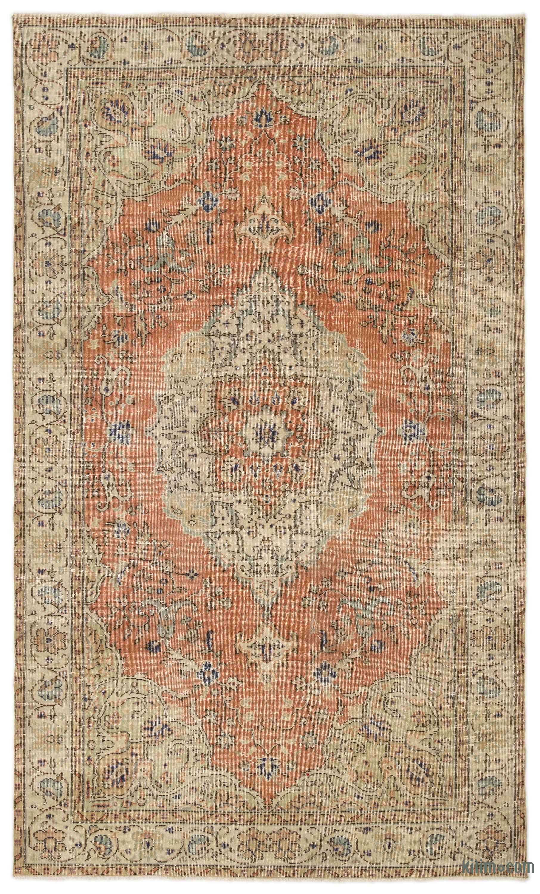 K0022333 Turkish Vintage Rug 5 9 X 9 10 69 In X
