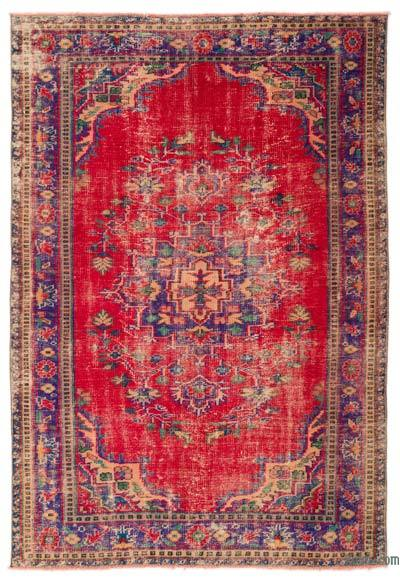 "Turkish Vintage Area Rug - 5'10"" x 8'6"" (70 in. x 102 in.)"