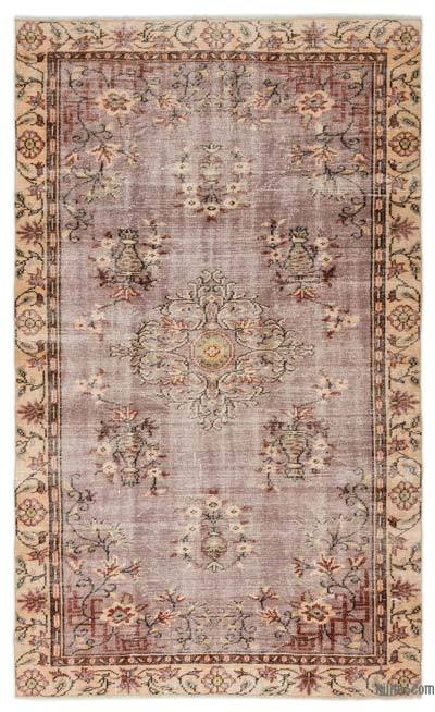 Turkish Vintage Rug - 5'4'' x 8'10'' (64 in. x 106 in.)