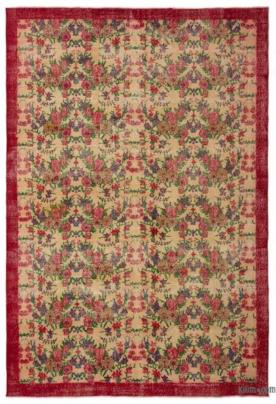 "Turkish Vintage Area Rug - 6'11"" x 10'2"" (83 in. x 122 in.)"
