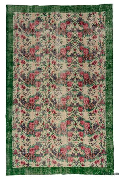 Turkish Vintage Area Rug - 5'9'' x 9' (69 in. x 108 in.)