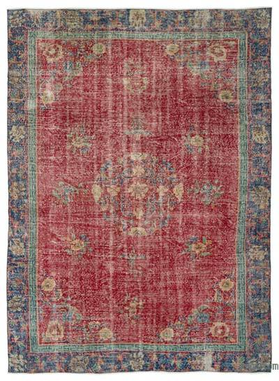 Turkish Vintage Rug - 7'1'' x 9'8'' (85 in. x 116 in.)