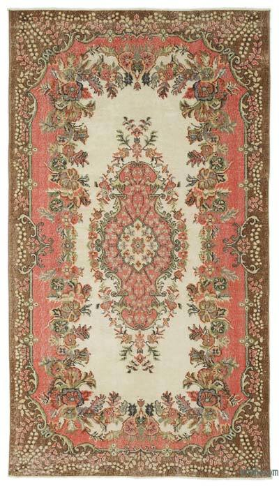 Turkish Vintage Area Rug - 5'5'' x 9'8'' (65 in. x 116 in.)