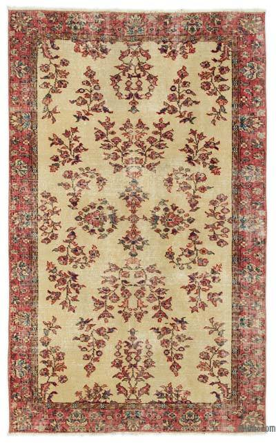 "Turkish Vintage Area Rug - 3'7"" x 6' (43 in. x 72 in.)"