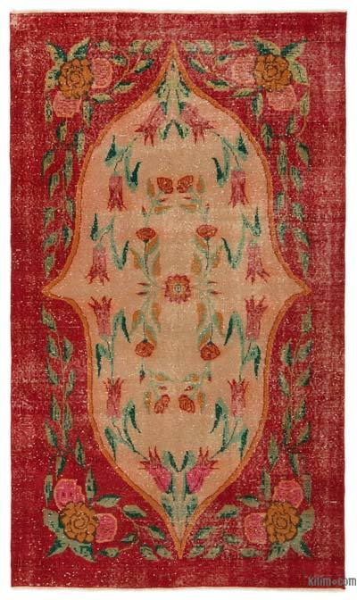 "Turkish Vintage Area Rug - 4'8"" x 8' (56 in. x 96 in.)"