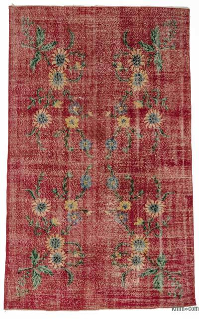 Turkish Vintage Area Rug - 5'8'' x 9' (68 in. x 108 in.)