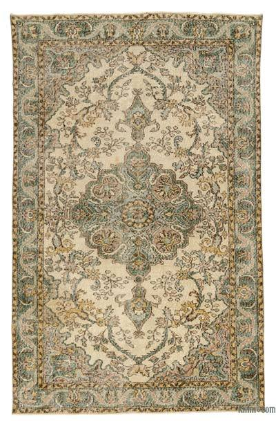 "Turkish Vintage Area Rug - 5'2"" x 8'3"" (62 in. x 99 in.)"