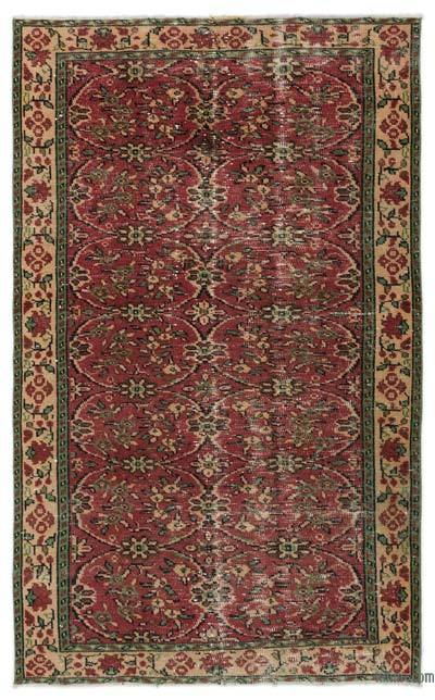 "Turkish Vintage Area Rug - 4'9"" x 7'9"" (57 in. x 93 in.)"