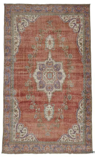 Turkish Vintage Area Rug - 6'8'' x 11'3'' (80 in. x 135 in.)