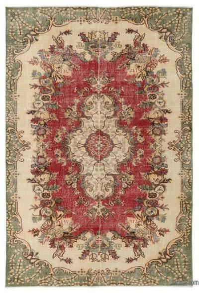 Turkish Vintage Area Rug - 5'7'' x 8'5'' (67 in. x 101 in.)