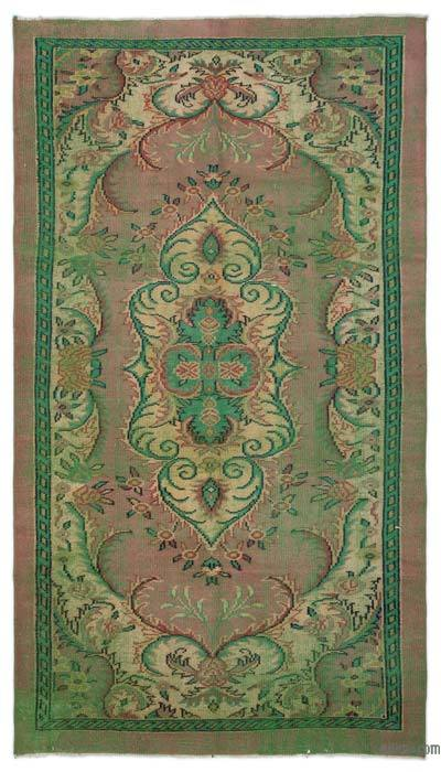 "Turkish Vintage Area Rug - 5'1"" x 9'4"" (61 in. x 112 in.)"