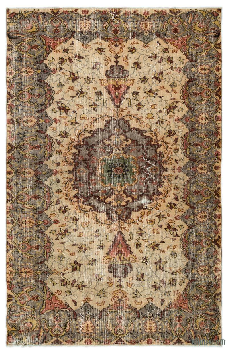K0022944 Turkish Vintage Area Rug 5 3 X 8 2 63 In