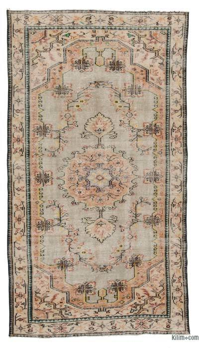 "Turkish Vintage Area Rug - 5'2"" x 9'3"" (62 in. x 111 in.)"