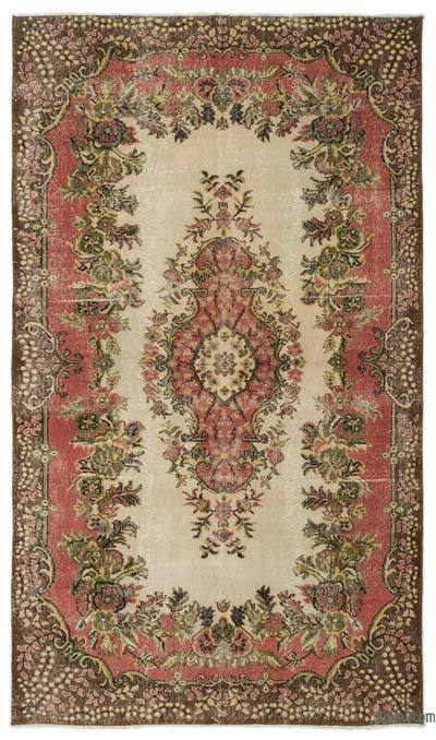 Turkish Vintage Area Rug - 5'3'' x 9'1'' (63 in. x 109 in.)