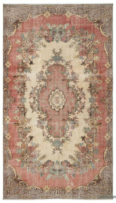 "Turkish Vintage Area Rug - 5'5"" x 9'6"" (65 in. x 114 in.)"
