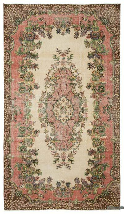 "Turkish Vintage Area Rug - 5'6"" x 9'5"" (66 in. x 113 in.)"