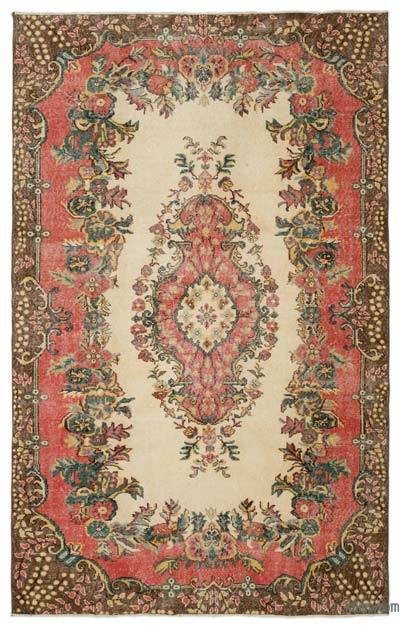 Turkish Vintage Area Rug - 5'9'' x 9'2'' (69 in. x 110 in.)