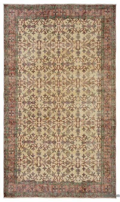 "Turkish Vintage Area Rug - 5'6"" x 9'7"" (66 in. x 115 in.)"