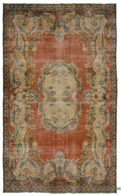 "Turkish Vintage Area Rug - 6'6"" x 10'7"" (78 in. x 127 in.)"